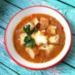 Zupa z zielonej soczewicy i pomidorów