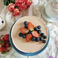 Truskawkowo – brzoskwiniowy serniczek na zimno
