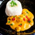"""Morelowe """"curry"""" z kurczakiem"""