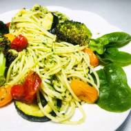 Poniedziałek: Spaghetti z pieczonymi warzywami