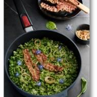 Test patelni WOLL Cookware oraz przepis na szpinakowe szpecle, spätzle… czyli kluski, zapiekane z serem i podane z boczkiem i ce