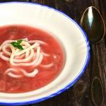 Zupa truskawkowa z makaronem udon