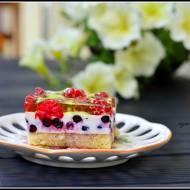 Ciasto na zimno z malinami i jagodami