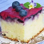 Szybkie ciasto z borówkami i lukrem borówkowym