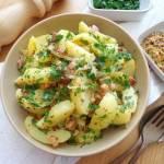 Sałatka ziemniaczana z boczkiem w sosie musztardowym (Insalata di patate con pancetta e salsa di senape)