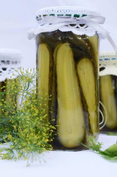 Ogórki konserwowe w plastrach z carry