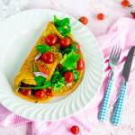 Fit  omlet z mąki żytniej razowej