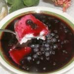 kasza manna z jagodami...