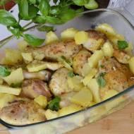 Musztardowy kurczak zapiekany z ziemniakami