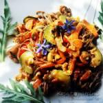 Makaron gryczany z warzywami