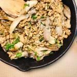 Czwartek: Stir fry z mielongo indyka i boczniaków