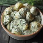 Sałatka z ziemniakami, ziołami i musztardą francuską