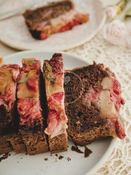 Bazyliowe ciasto z truskawkami