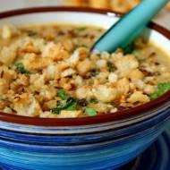 Pożywna mięsna zupa krem z nasionami