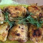 Pieczone udka z kurczaka (z chrupiącą skórką)
