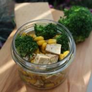 tofu z brokułami