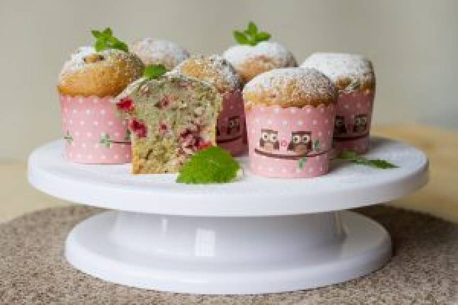 Muffiny kefirowe z owocami