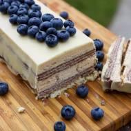 Ciasto bez pieczenia w białej czekoladzie