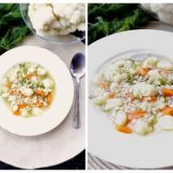 Lekka zupa kalafiorowa z pęczakiem