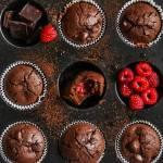 Babeczki czekoladowe z malinami