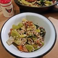 Kaszotto z kurkami i fasolką szparagową