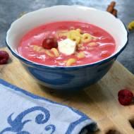 Zupa z wiśni i innych owoców