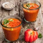 Krem z pomidorów dojrzewających na słońcu