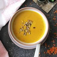 Zupa krem z czerwonej soczewicy na mleku kokosowym