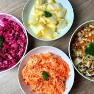 Surówki do obiadu na 4 sposoby