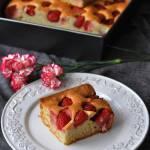 Ciasto na białkach z owocami