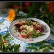 Roladki drobiowe  z pistacjowym pesto