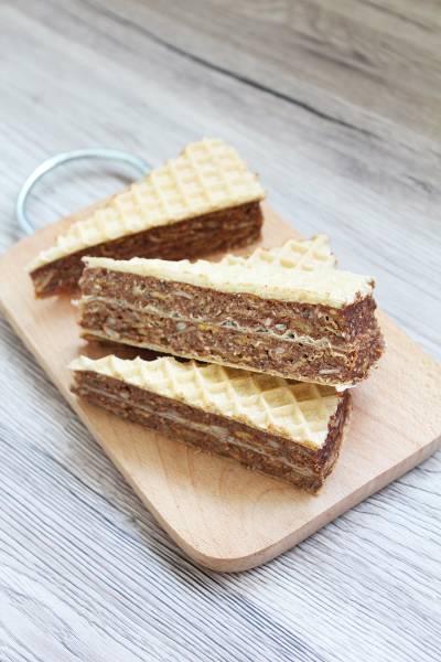 Czekoladowo bakaliowe wafle – andruty bez cukru
