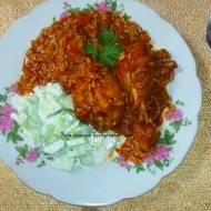 Kurczak słodko kwaśny z ryżem