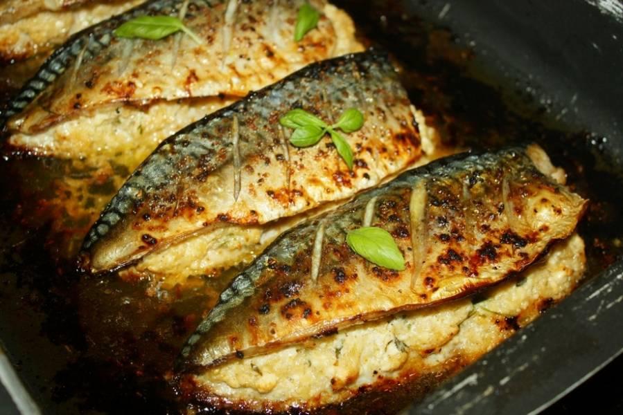 Pieczona ,faszerowana makrela