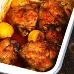 Udka kurczaka pieczone w piwie