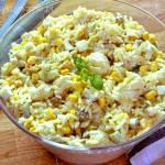 Sałatka z makaronem i kalafiorem – szybka i pyszna