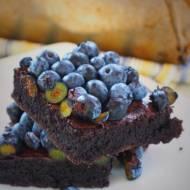 Keto brownie z borówkami (Paleo, LowCarb)