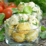 Sałatka kalafiorowa z młodymi ziemniakami i roszponką