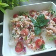 Dorsz po włosku - z pomidorami i bazylią