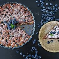 Drożdżowe ciasto z borówkami amerykańskimi