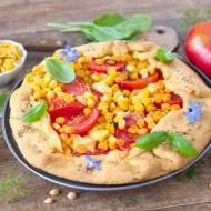 Galette z pomidorami i kukurydzą