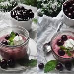 Serniczek wiśniowy błyskawiczny bez cukru