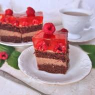 Czekoladowe ciasto z malinami i nutellą