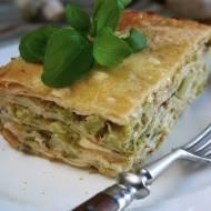 Zapiekanka z naleśników pieczarkowych z brokułem i serem