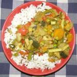 ryż paraboliczny+czarny ryż  z warzywami...