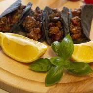 Tacosy z niebieskiej mąki kukurydzianej