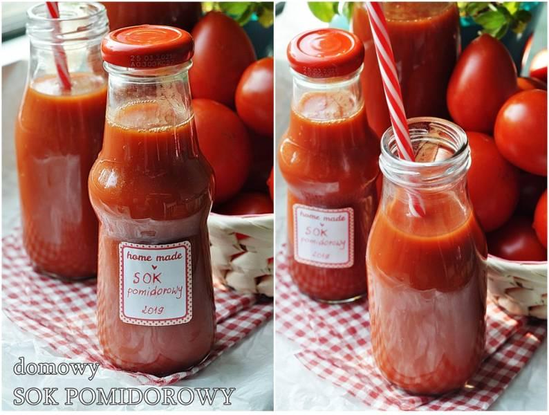 Domowy sok pomidorowy. Sok z pomidorów.