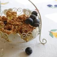 Ciasto ze śliwkami i kruszonką kokosową