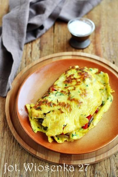 Omlet nadziewany warzywami