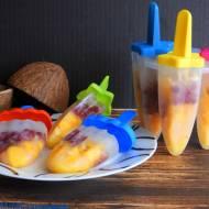 Lody kokosowe z mango i granatem